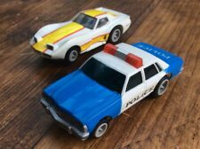 Matchbox Powertrack Speedtrack Race and Chase Corvette and Police Car