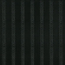 G347 Black Metallic Striped Wood Look Upholstery Faux Leather By The Yard