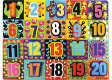 Melissa & Doug Wooden Chunky 20pc Jumbo Learning Numbers Jigsaw Puzzle MND3832