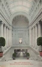 Antique Postcard c1912 Main Hall Stairway Museum Fine Arts Boston, Ma 17241