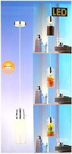 3x LED Hängeleuchte Glas Schauzylinder Pendel Leuchte Decken Lampe befüllbar NEU