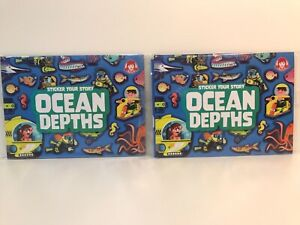 Wendy's Kids Meal Toy Sticker Your Story Ocean Depths Lot of 2 New