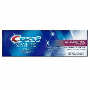 Crest 3D White Luxe Glamorous White Toothpaste, Vibrant Mint, 99 g *EXP 11/2021*