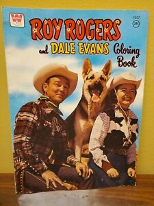 ROY ROGERS AND DALE EVANS COLORING BOOK W/ BULLET WHITMAN VINTAGEnot colored in