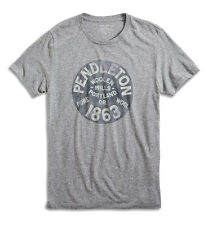 Pendleton for Lucky Brand - Men's M - NWT$39 - Heather Gray Graphic Logo T-Shirt
