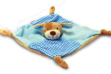 BLUE BABY'S FIRST Knotted Teddy Bear/Puppy Dog Comforter Blanket by Keel Toys