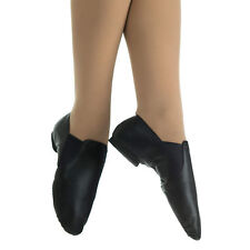 Danzcue Adult Dance Leather Jazz Bootie Shoes