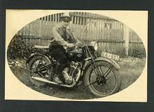 Un officier allemand à moto  Vintage silver print Tirage argentique d'é