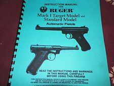 RUGER  MARK 1,  STANDARD & TARGET,  AUTOLOADING PISTOLS    19 Pages