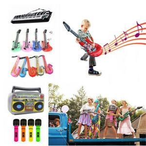 Inflatable Music Instruments Guitar Microphone Saxophone Organ Blow Up Party AU