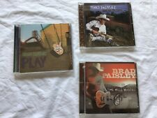 3 Brad Paisley CDs - Mud On The Tires, Time Well Wasted, And Play: Guitar Album