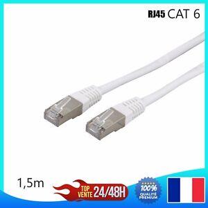 Cable Reseau Ethernet RJ45 CAT 6 ordinateur Console Jeux-vidéo 1,2,3,5,7,10,15m
