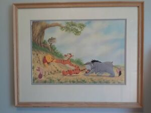 Winnie the pooh art print framed and matted