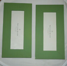 POTTERY BARN TWO PICTURE PHOTO FRAMES 14 x 7 INCH OUTSIDE 91/2 x 3 INSIDE