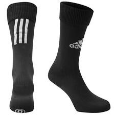 ✔ adidas Santos 3-Stripe Stutzen Fussball Socken Schwarz Kinder Herren Damen NEU