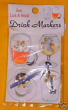 Winter Drink Markers New Four Piece Set Suction Cups
