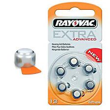 24 Stück R13AE  Rayovac 13 EXTRA ADVANCED  Batterien Hörgerät 13A, PR48, DA13H