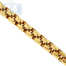 Mens Womens Chain 14K Yellow Gold Venetian Box Diamond Cut Link 1.5 mm 26 Inches