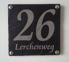 Hausnummer aus Schiefer, Lasergravur, absolut Wetterfest