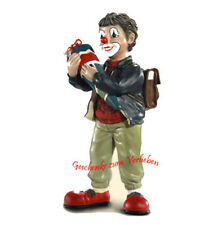 Gilde Clown 35067 Peter Schulanfänger brünett mit rotem Pullover neu OVP