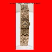 Mint 9K Gold Swiss Omega 17J Ladies Retro Wrist Watch 1965