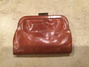 Latico NJ USA  Leather Snap Clutch Wallet EUC
