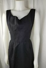 Alfred shaheen vintage little  black 1960s woman strap cocktail party fashion