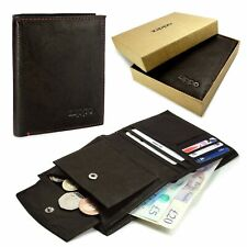 Zippo Personalised Genuine Leather Wallet and Coin Pouch - Mocca Brown