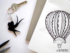 Key Ring - Barn Swallow Silhouette