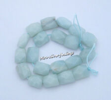 Gemstone Genuine Amazonite 8x10mm Faceted Rectangle Loose Beads  20 pieces New