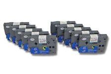 10x Cassette de cinta para Brother P-Touch H100LB, H100R