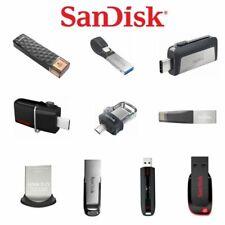 SanDisk 8GB 16GB 32GB 64GB 128GB USB 2.0 3.0 Flash Drive Ultra Fit Memory Stick