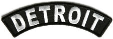 Detroit Rocker Iron On Patch - 4 x 1 inch Free Ship Biker Veteran Military P3609