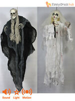 Animated Zombie Bride Hanging Halloween Prop Light Up Sound Party Decoration