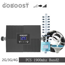 T-Mobile AT&T 65dB 1900MHz Cell Phone Signal Booster Band 2 Repeater Antenna Kit