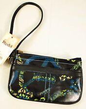 girls Mudd clutch purse blue w/print zipper wristlet key ring lining msrp $40