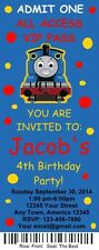 12 Personalized Train Birthday Party Ticket Invitations & Envelops