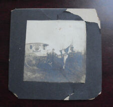 Vintage 1880s Original Photograph Horse and Wagon Haas Bakery LOOK