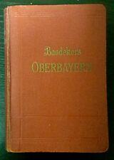 Baedeker OBERBAYERN Handbuch für Reisende 1921