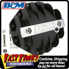 """B&M """"BLACK"""" Cast Finned Aluminum Differential Cover Mopar-Chrysler 9.25"""" 12-Bolt"""