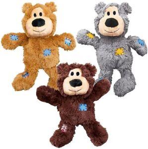 Kong Wild Knots Bear Plush Pet Puppy Dog Toy - 3 Sizes