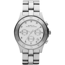 MARC JACOBS BLADE SILVER STAINLESS STEEL MBM3100 LADIES CHRONOGRAPH WATCH