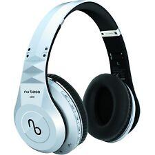 Nu Bass One White Over Ear Wireless Headphones Bluetooth Headset