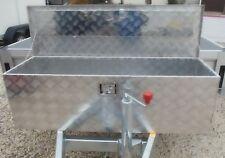 Alu Riffelblech Alubox Staubox Deichselbox Werkzeugkasten Anhänger 123 x 38 x 38