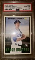 PSA 10 GEM MINT 2017 Topps Throwback Thursday Rookie CODY BELLINGER Dodgers RC