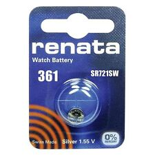 Renata 361 Cell SR721W Coin Button Battery 1.55V for Watches Car Keys Torches