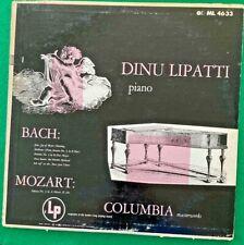 LIPATTI pianist ~BACH & MOZART piano works (COL ML 4633 Mono 2-EYE LP US) *NM*