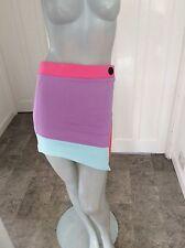 Topshop Size 10 Muli Colour Print Asymmetric Body Con Mini Skirt Or Top BNWT