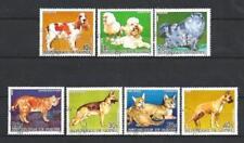 Chats et Chiens Guinée (30) série complète de 8 timbres oblitérés
