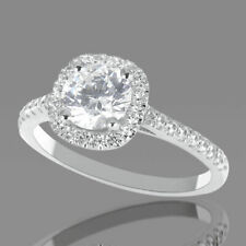 1 CT Real Diamond Engagement Ring Round Cut F/SI1 18K Rose Gold